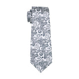 Light Gray & Black Paisley Necktie