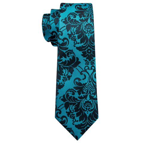 Blue & Black Design Necktie