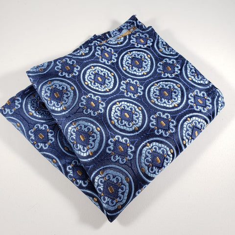 Blue & Light Blue Design Pocket Square