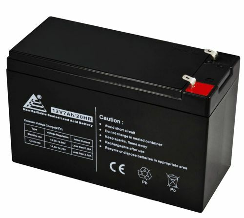 12 Volt 7 amp hour Alarm Panel Replacement Battery