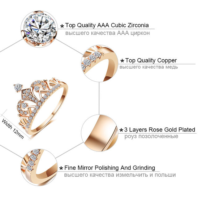 Princess Crown Rings