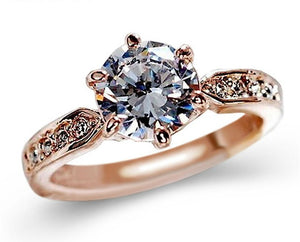 Engagement Crystal Rings