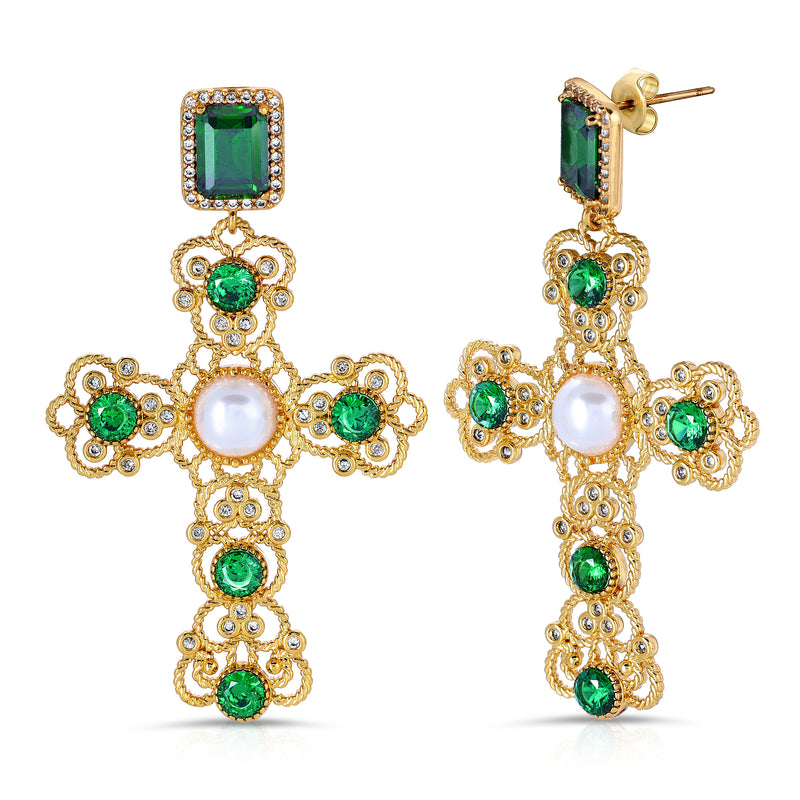 The Kamil Earrings Emerald