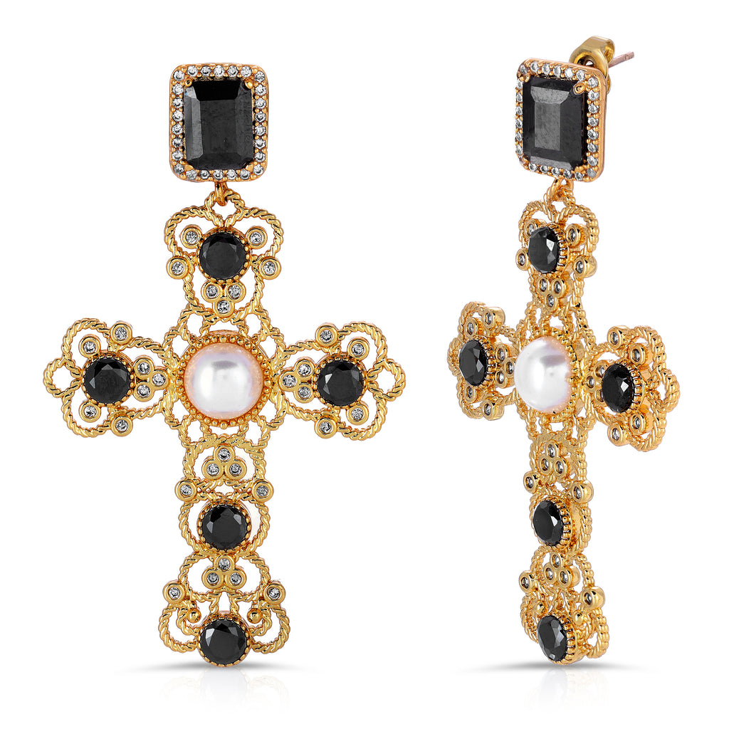 The Kamil Earrings Black