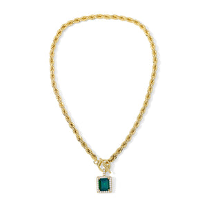 The Harper Necklace Emerald