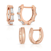 The Bare & Baguette Huggie Set