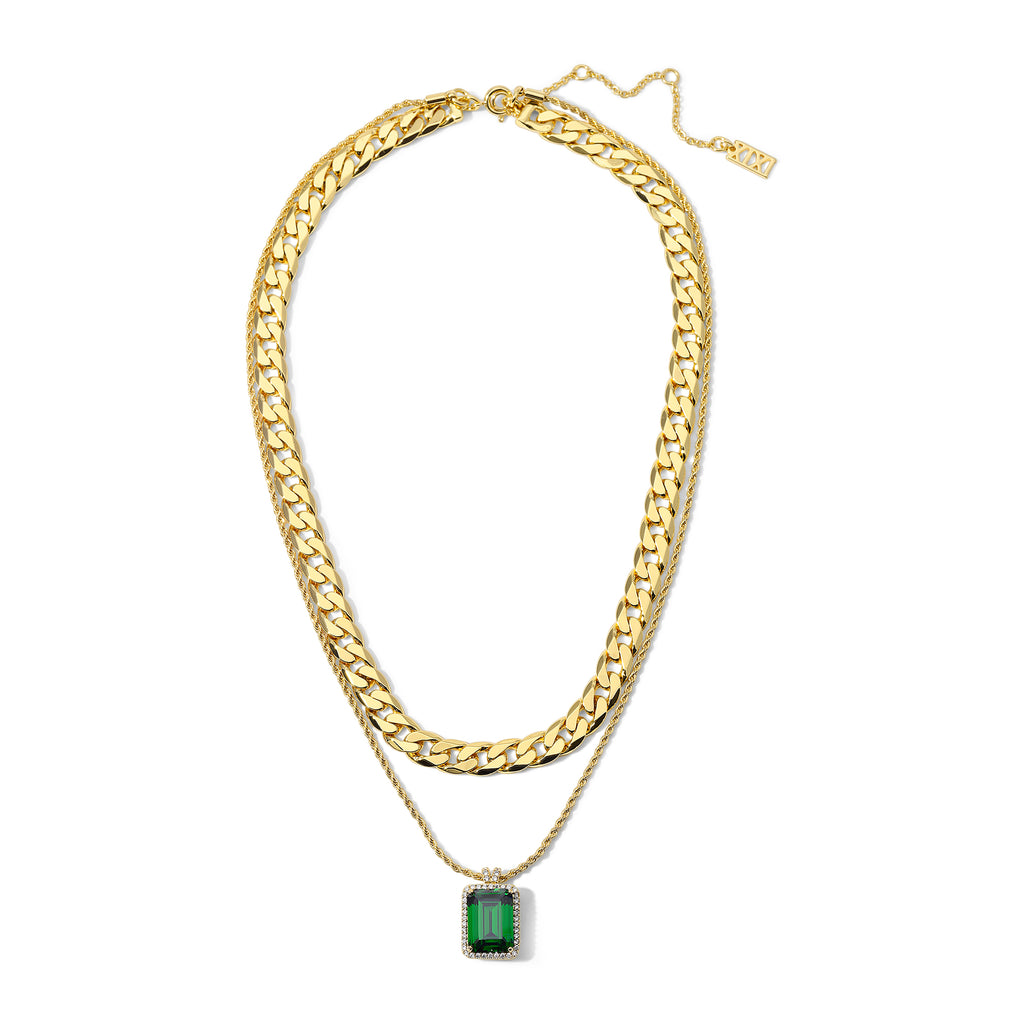 The Eliza Necklace Emerald