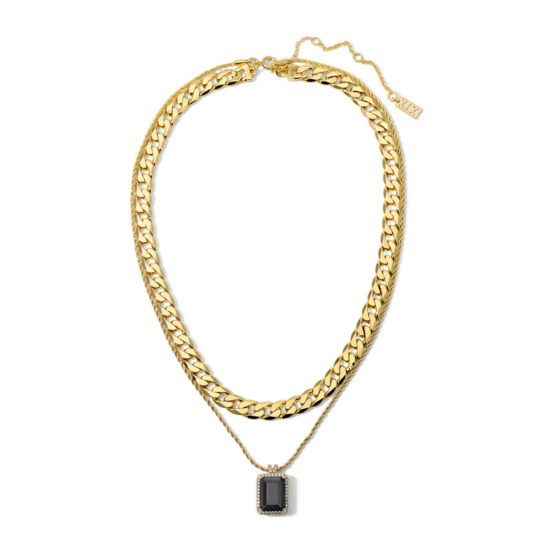 The Eliza Necklace Black