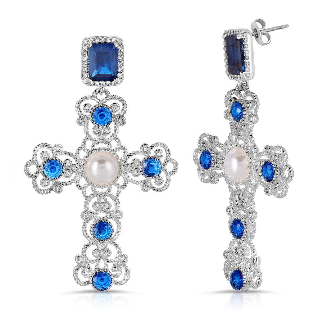 The Kamil Earrings Sapphire