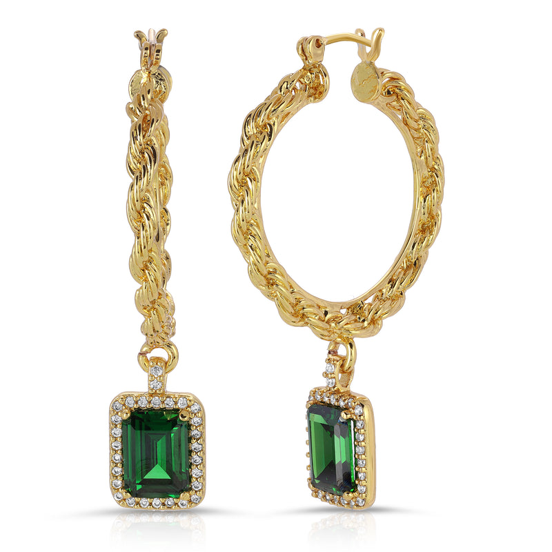 The Engelique Earrings Emerald
