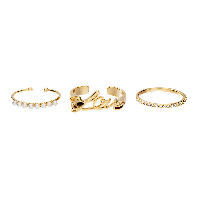 Carmen Maria Love Ring Set