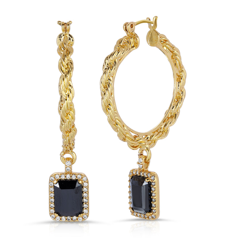 The Engelique Earrings Black