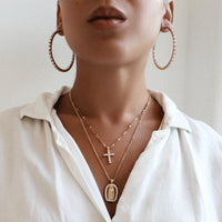 The La Cruz Necklace Gold