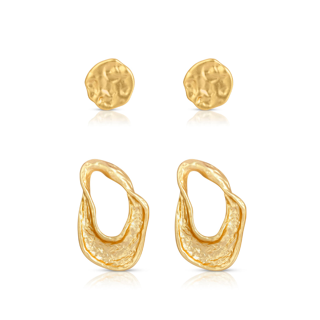 The Gold Dust Earring Set