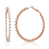 The Baguette Diamond Hoops