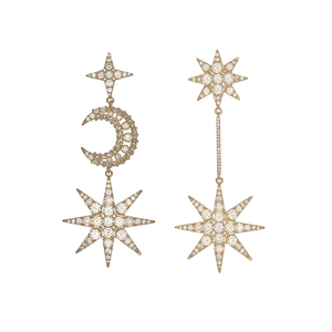 Yellow Gold - Star of Wonder Earrings