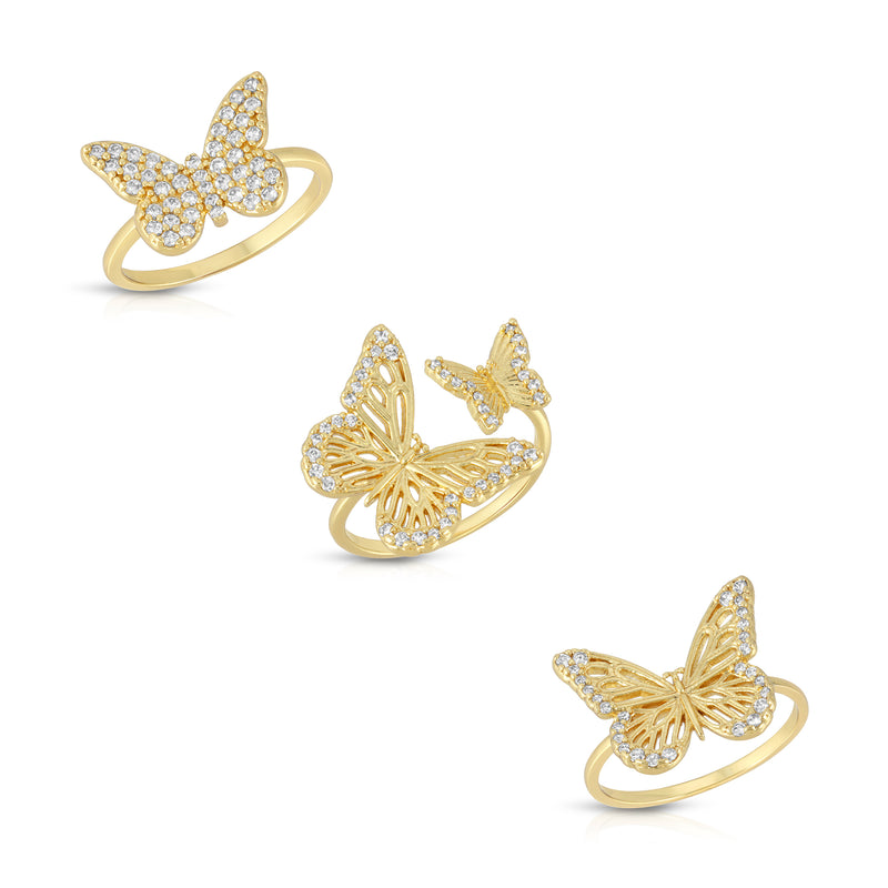 Fly Away Ring Set