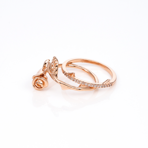 ROSE GOLD LA VIE EN ROSE RING SET