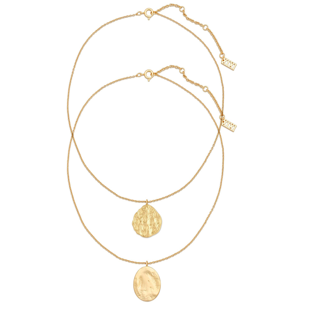 The Gold Coin Necklaces Set