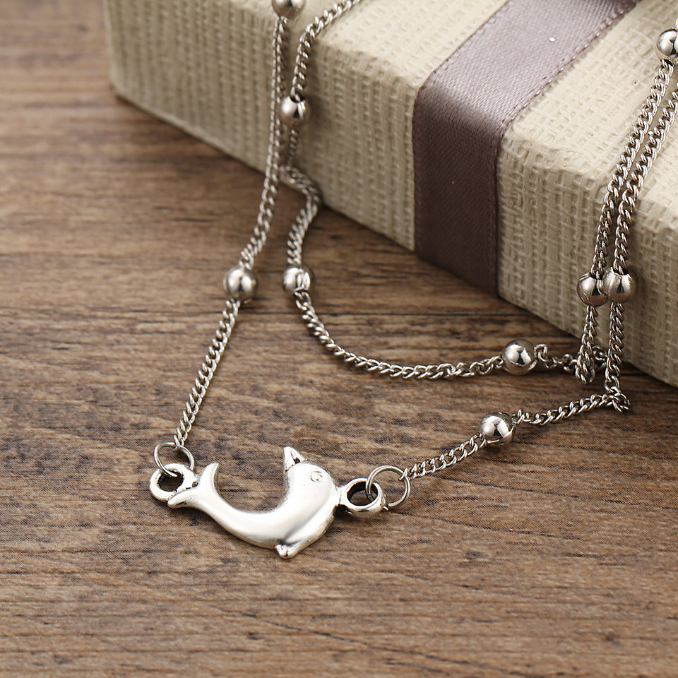Simple Dolphin Anklet
