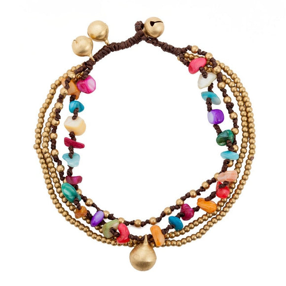 Stone Bell Anklet (Colorful)
