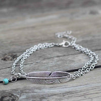 Feather Anklet (Silver)