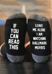 I Am Watching Hallmark Movies Socks