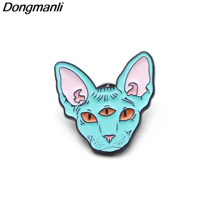 Cute Sphynx Cat Enamel Pin