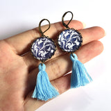 Tassel Earrings (Light Blue)