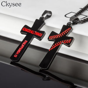 Baseball Cross Necklace