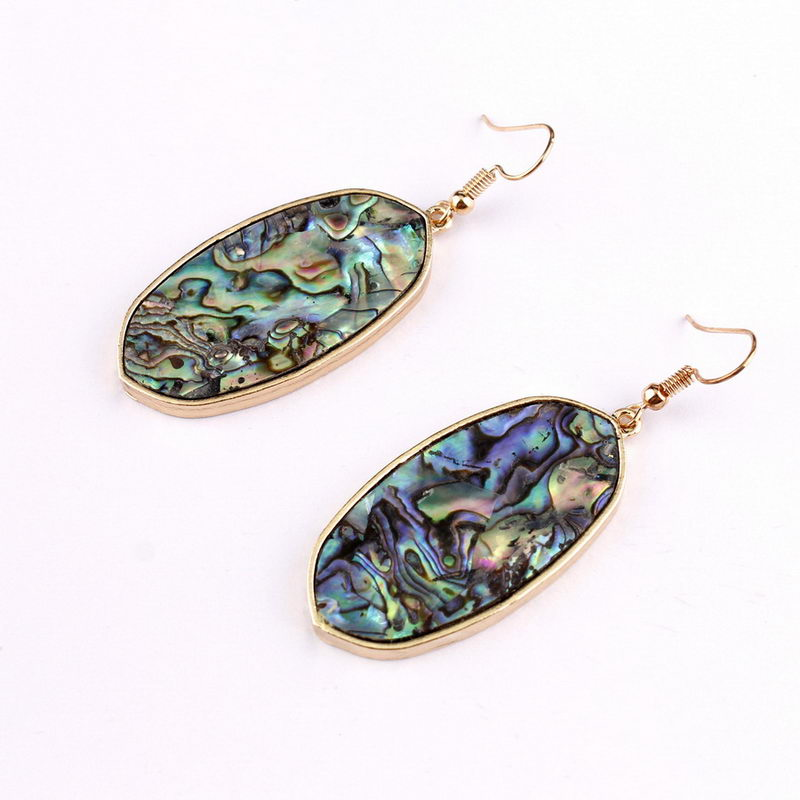Signature Stone Drop Earrings (Abalone)