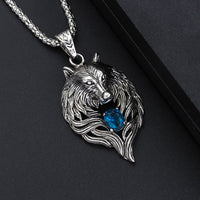 Wolf Head Gem Necklace