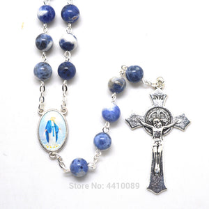 Blue Our Lady of Grace Rosary