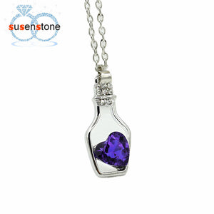 Love Drift Bottle Necklace (Purple)