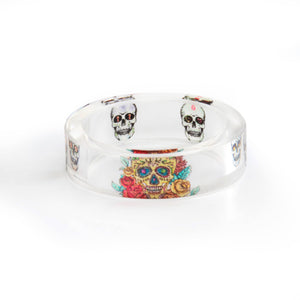 Graphic Skulls Resin Ring