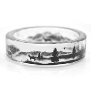 Clear Resin Ring (Deer)