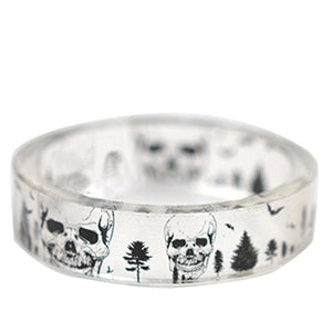 Clear Resin Ring (Skulls)