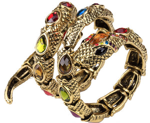 Snake Armlet (Gold/Multi Color)