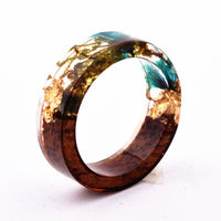 Wood Resin Ring (Blue/Brown)
