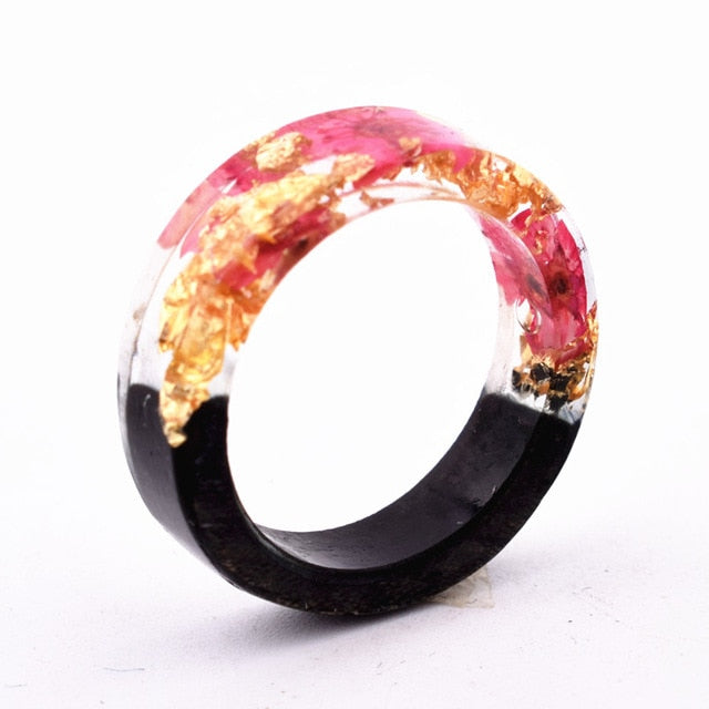 Wood Resin Ring (Yellow/Blue/Brown)