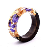 Wood Resin Ring (Purple/Orange)