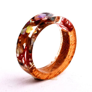 Wood Resin Ring (Red/Brown)