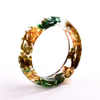 Wood Resin Ring (Yellow/Green)