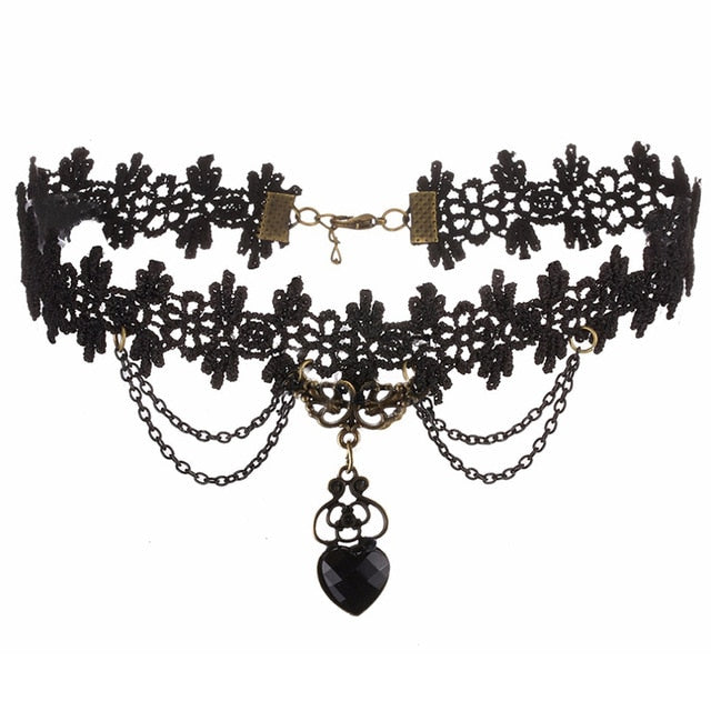 Lace Gothic Choker (Style 9)