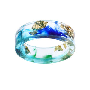 Unisex Resin Ring (Ocean Blue)
