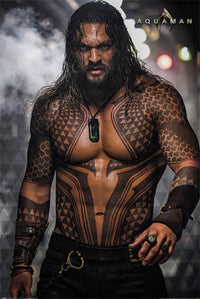 "AQUAMAN - MOVIE POSTER / PRINT (JASON MOMOA TOPLESS) (SIZE: 24"" x 36"")"
