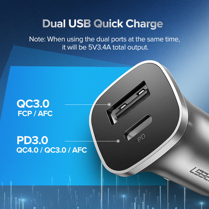 QC 4.0 PD 18W USB C Car Charger