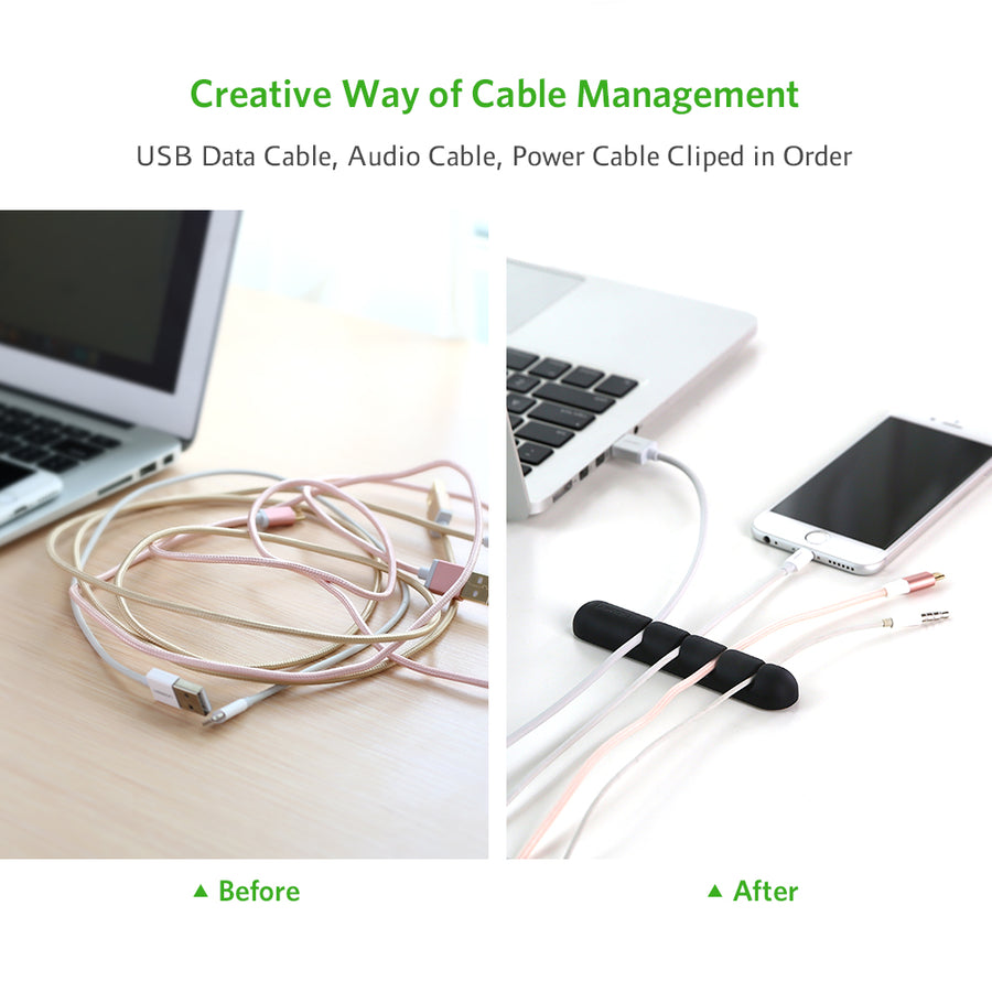 Adhesive Desk Cable Clip Holder