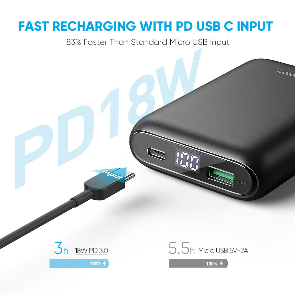 10000mAh PD 18W Power Bank