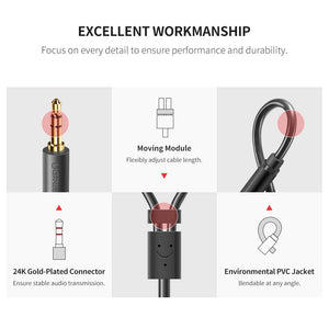 3.5mm Male to 2 RCA Female Cable - Ugreen